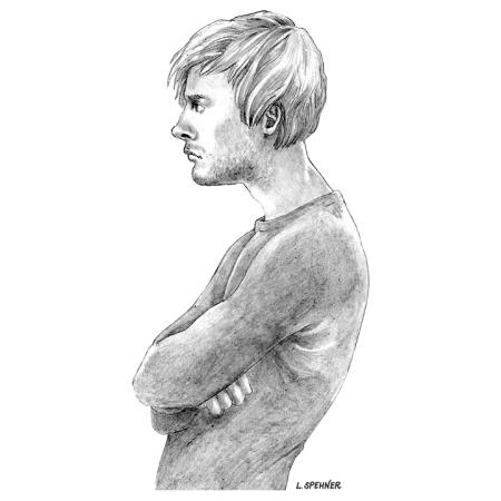 Crayonné, illustration intérieure — Solaris 191
