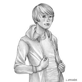 Cléo, crayonné