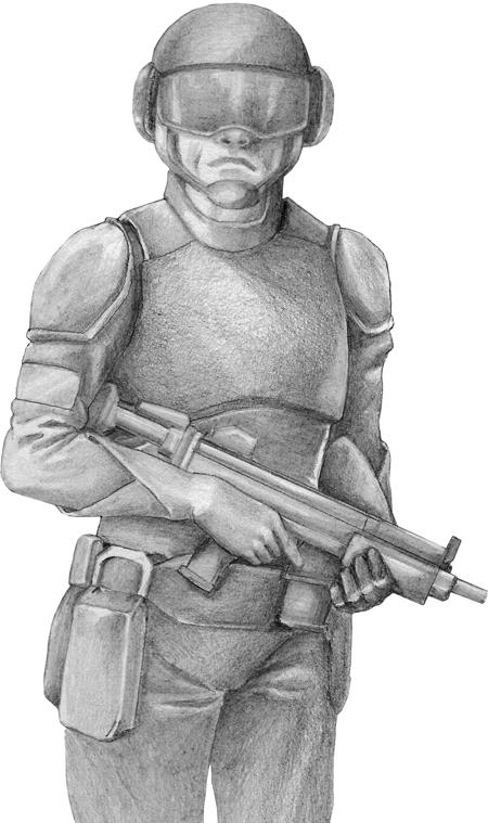 Crayonné d'un soldat
