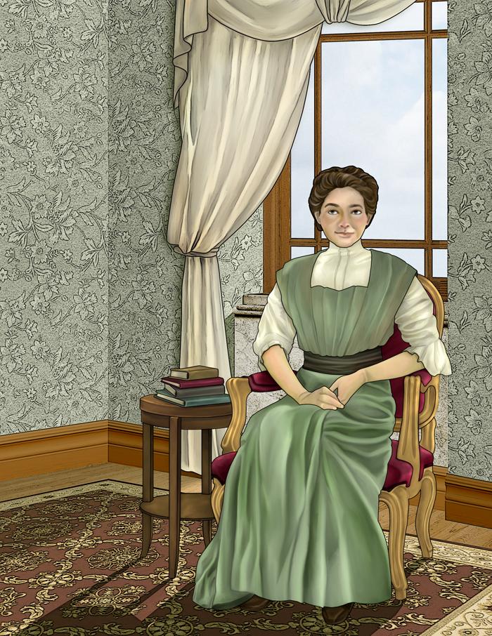 Mina Benson Hubbard, scène d'intérieur (version finale)